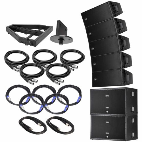 (5) RCF HDL 20-A Active Line Array Speakers Package